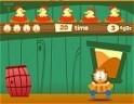 Szedd össze Garfielddal a lepottyanó tojásokat! Vigyázz a dinnyékre és az almákra!