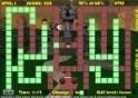 Pac-Man-szerű mászkálós játék sakkfigurákkal.