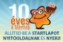 10 éve megéri Startlapozni! NYERJ!