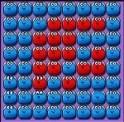 Foglald el a kék bábukkal a pályát, úgy hogy közben a piros bábukat is kékké színezed!