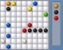 Csinálj ötös sorokat az egyszínű golyókból!