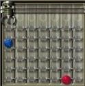 Online logikai játék, ahol négy egyforma színt raksz egymás mellé vagy átlóban!