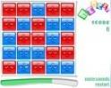 Szedd le a kockákat úgy, hogy négy egyforma színű legyen a sarkokban!