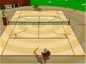 Vidám tenisz-játék rajzfilmszerű figurákkal és helyszínekkel!