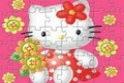 Kirakós játék különböző nehézségi fokozattal, Hello Kitty-vel.