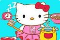 Hamarosan indul a suli, segíts te is Hello Kitty-nek, hogy minden rendben menjen.