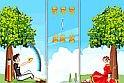Különös szerelmes játék, melyben a két főszereplő között egy papírrepülőt kell dobálnod az ingyenes online játékok eme változatában. Mindez azért fontos, hogy a csinos lány kezei kiszabaduljanak a kötelek alól.