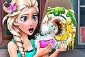 Jégvarázs játék, amiben mosogatni kell! Igen, ilyen ez a hercegnős játék, ahol neked kell segítened Elzának az online játék alatt.