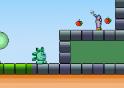 Ugrálj a zöld lénnyel és juss végig a pályákon ebben a mario szerű játékban.