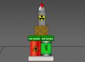 Helyezd a földre az atombombát. Vigyázz nehogy felrobbanjon!