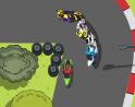 Valódi felülnézetes motoros játék. Előzd meg versenytársaidat a kanyarokban!