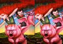Különbség keresésre fel! Keresd meg a fura képek közötti különbségeket. A képek igen furák!