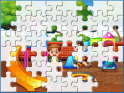 Playing Kids Jigsaw