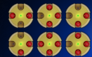 Lődd ki a piros golyókat, hogy eltüntesd a tárolókat. A cél, hogy mindegyik tároló eltűnjön!