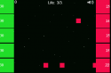 A zöld felületen kattintva lődd ki a piros oldalról érkező lövedékeket.