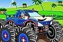 Sonic most egy terepjáróba pattant, hogy kipróbálja magát, milyen jól is tud vezetni.