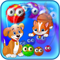 Kitty loves playing with the colorful birds. Help her match the birds together to create combos and clear the flock before they reach the dog! Combine powerup birds, watch out for deflectors, and use perfect aim in this fun bubble-shooting puzzle game!