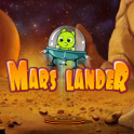 Pilot the Mars Lander back to its home base. Use rocket thrusters to navigate past dangerous rocks and ledges.  Land too fast and you'll crash!  Best of luck for a smooth and safe landing!