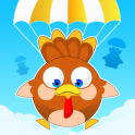 Gobble gobble!  Baby turkeys are falling from the sky and need help! Get under them, toss them a parachute, and watch them float to safety.  Make sure you are efficient, as the little gobblers will start falling faster and faster as the game progresses. D...