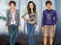 A Twilight jól ismert szereplői segítségeddel trendi ruhákba bújhatnak. Bella, Edward és Jacob is sokat ad arra, hogy jól nézzenek ki. Légy az öltöztetőjük, hagy legyenek minél csinosabbak!