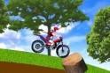 Motorozás hegyen-völgyön át! Irányítás: a nyilakkal!